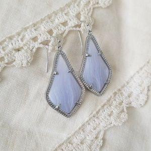 Kendra Scott Alex 💜 Blue Lace Agate